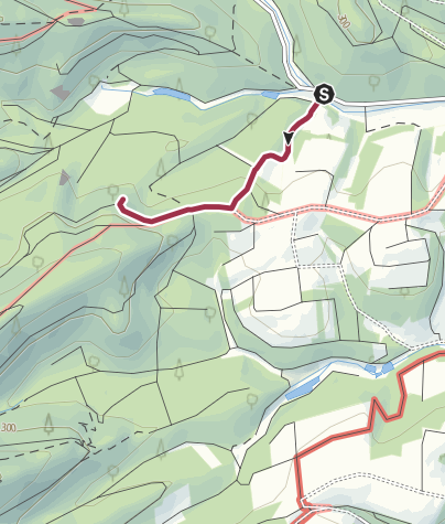 Karte / Zustieg - Käskammerfelsen