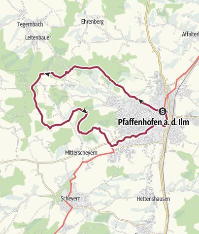Karte / W3 PAF:bike!run!walk Panoramaweg West