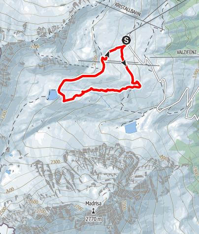 Karte / Schmuggler-Weg Gargellen