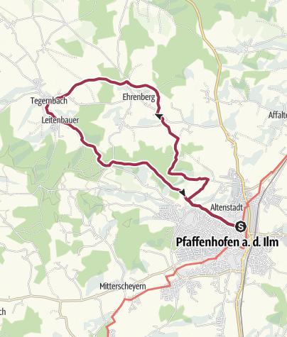 Karte / W2 PAF:bike!run!walk! Panoramaweg Nord