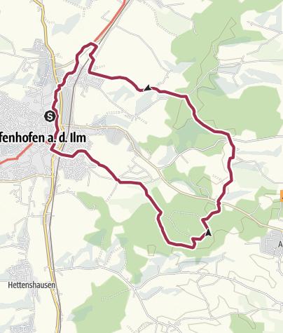 Karte / W4 PAF:bike!run!walk! Panoramaweg Ost
