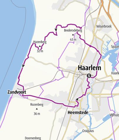 Radrunde Haarlem - Bloemendaal - NP Zuid Kennemerland - Zandvoort ...