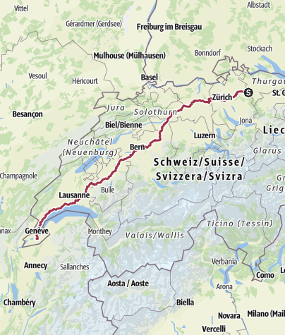 Mapa / Elgg nach Genf