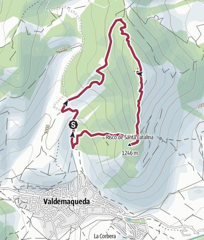 Map / Valdemaqueda. Cerro de Santa Catalina