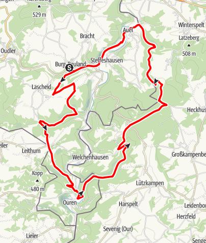 Carte / VTT - Le circuit des 2 frontières