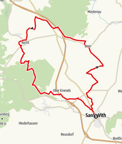 Karte / MTB – Die Blausteinroute