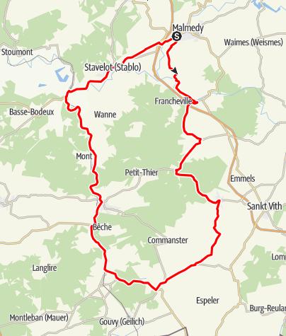 Carte / Malmedy Richtung Süden