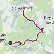 Kartta / Carpathians big trail