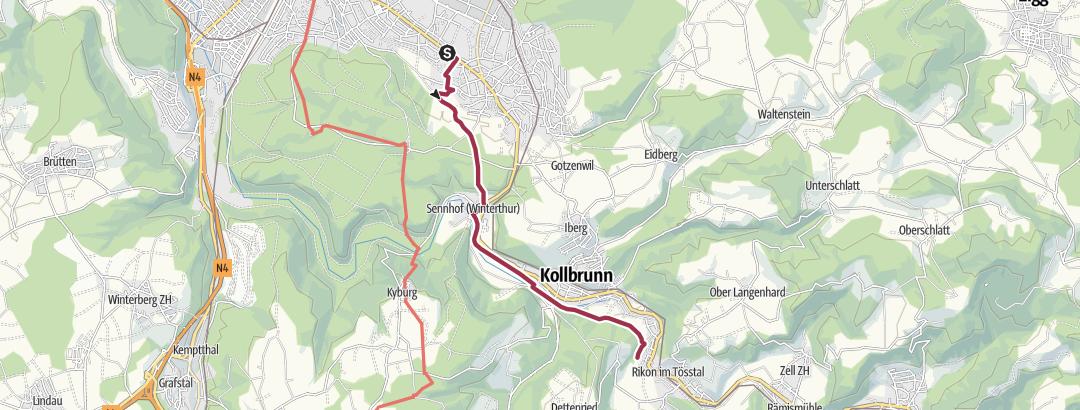 Kartta / Tourenplanung am 2021-03-03 Gruppe 3