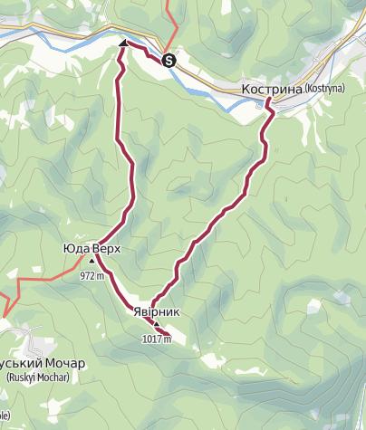 Map / Кострина - Явірник