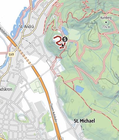 Karte / Wandern am Ossiacher See - Über den Weinrundgang auf die Burg Landskron
