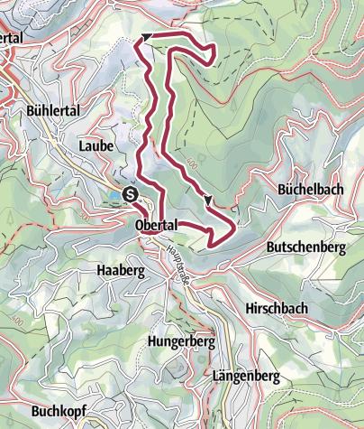 Karte / AugenBlickRunde Bühlertal-Engelsberg