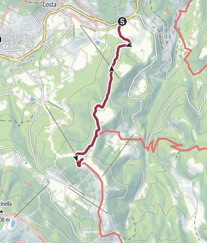Map / Walk to the Rifugio Stella D'Italia