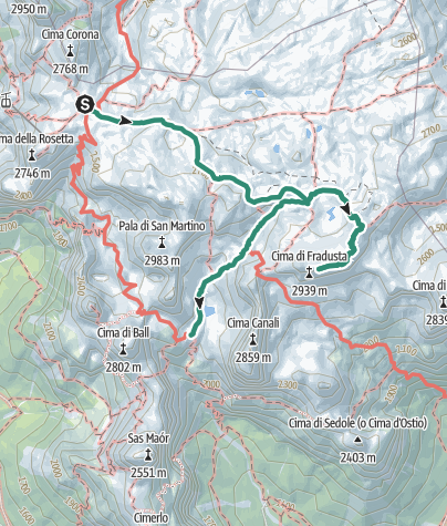 Map / Dolomiti Palaronda Trek - 2nd stage