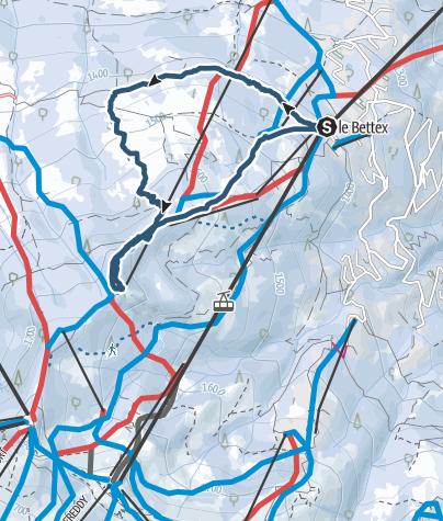 Carte / Boucle le Bettex- Mont Rosset. Circuit Zag