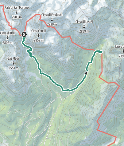 Map / Dolomiti Palaronda Trek - 3rd Stage