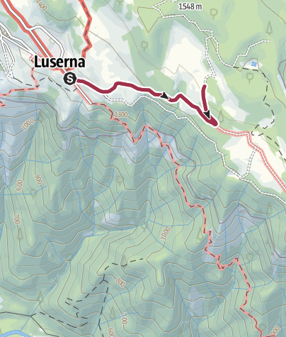 Map / Walk to Rifugio Malga Campo di Luserna
