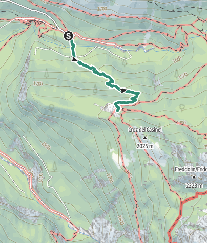 Map / Hike to Rifugio Casinei