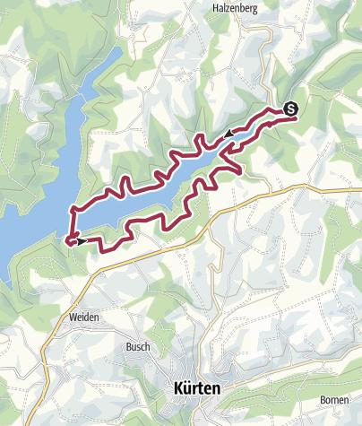 Map / Um die Vorsperre Große Dhünn