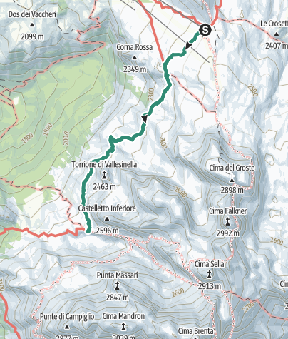 Map / Hike to Rifugio Tuckett