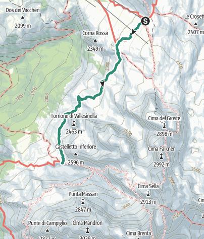 Karte / Wanderung zur Schutzhütte Tuckett