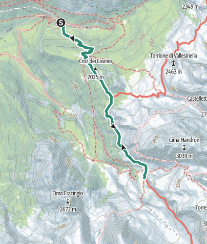 Map / Hike to Rifugio Brentei
