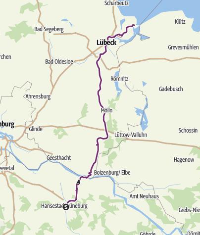 Karte Lübeck.Alte Salzstraße Lüneburg Lübeck Travemünde Fernradweg