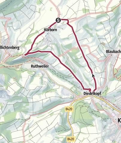 Karte / Körborn - Burg Lichtenberg und Fritz Wunderlich