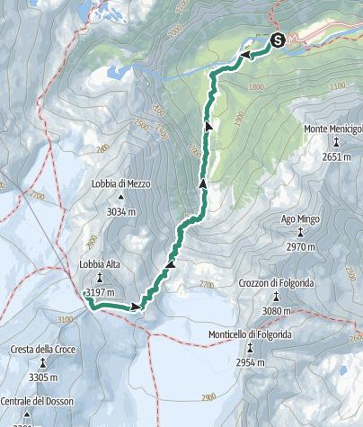Map / Hike to Rifugio Lobbie Caduti dell'Adamello