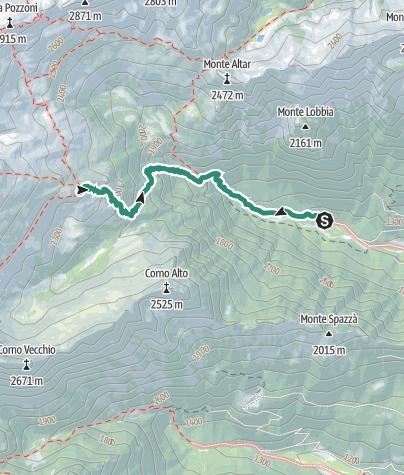 Karte / Wanderung zur Schutzhütte Carè Alto – Dante Ongari