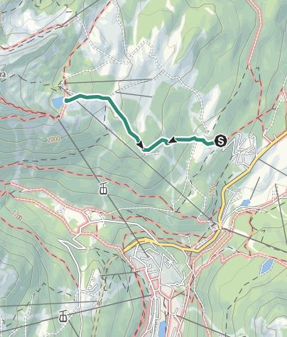 Map / Hike to Rifugio Viviani - Pradalago