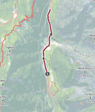 Map / Walk to Rifugio Ghedina - Malga Nambi