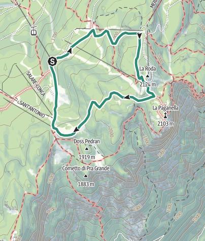 Karte / Wanderung zur Schutzhütte La Roda