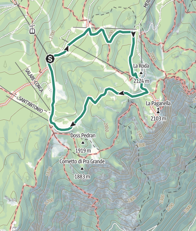 Map / Hike to Rifugio La Roda