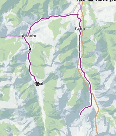Karte / Wagrain-Kleinarl zu den Marbachalmen