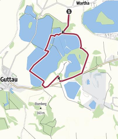 Karte / Naturerlebnispfad Guttauer Teiche