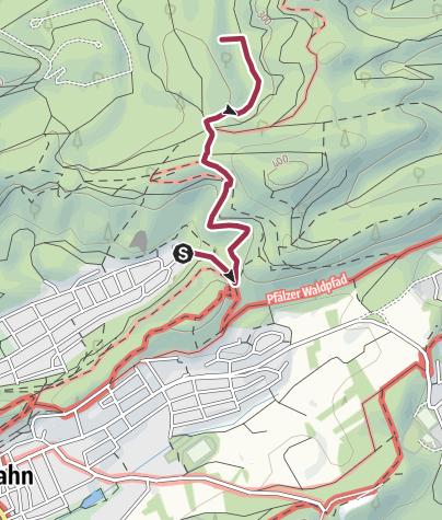 Karte / Zustieg - Biegdentaltürmchen