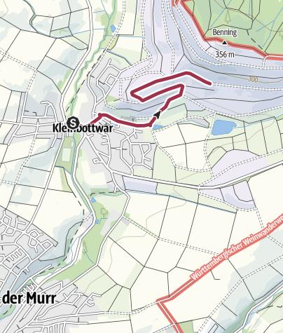 Karte / Weinprobierstand in Kleinbottwarer Weinbergen - Anfahrt ÖPNV