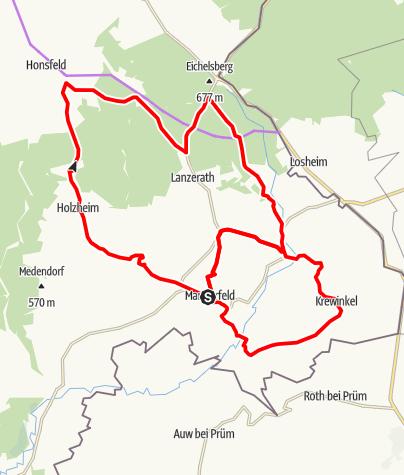 Carte / Vélotour – Le circuit de Manderfeld