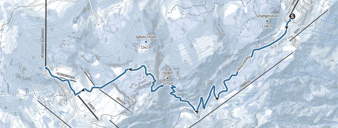 Carte / Schneeschuhtrail Twäregg
