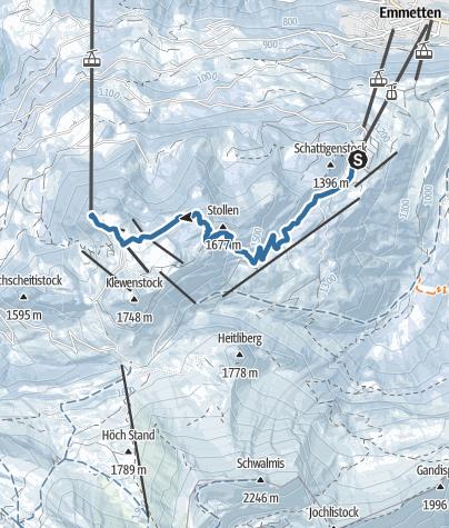 מפה / Schneeschuhtrail Twäregg