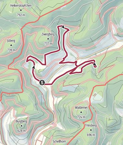Karte / [Sorpetal] Rellmecke & Mittelsorpe