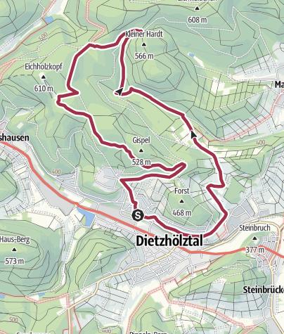 Map / Von Ewersbach übers Nonnbachtal zum Eichholzkopf