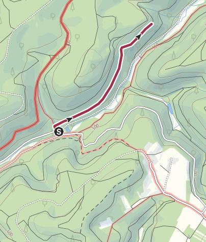 Karte / Zustieg - Rappersborner Fels