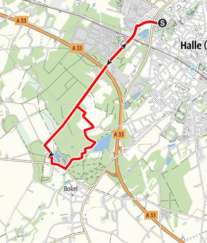 Karte / Joggingtour Tatenhausener Wald - Rund um das Wasserschloss