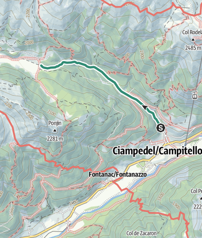 Map / Hike to Rifugio Micheluzzi