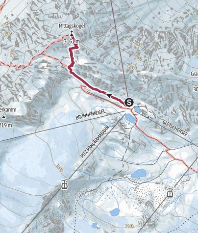 Map / Mittagskogel im Pitztal