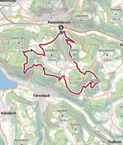Höhenmeter Karte.Südkette 1000 Höhenmeter Rundwanderweg Südkette Wanderung