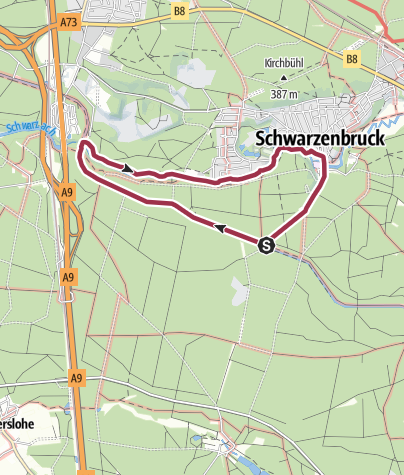 Karte / Schwarzachklamm und Brückkanal