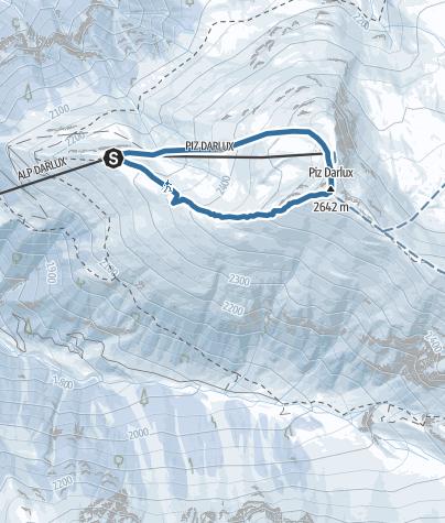 Karte / 527 Schneeschuhtrail Piz Darlux